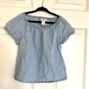 FOREVER 21 GIRLS (Kids) Chambray Top 5/6
